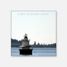 "Lubec Channel Light Note Ca Square Sticker 3"" x 3"""