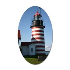 Quoddy Light Journal 35x21 Oval Wall Decal