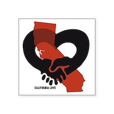 """Cali-Love-B Square Sticker 3"""" x 3"""""""