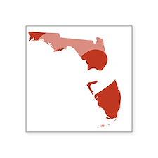 """Florida-love-w Square Sticker 3"""" x 3"""""""