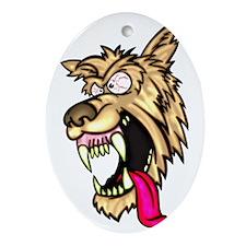 Angry Junkyard Dog Oval Ornament