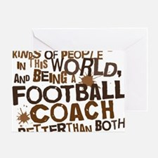 footballcoachbrown Greeting Card