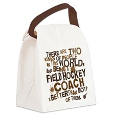 fieldhockeycoachbrown Canvas Lunch Bag