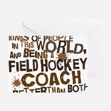 fieldhockeycoachbrown Greeting Card