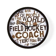 fieldhockeycoachbrown Wall Clock