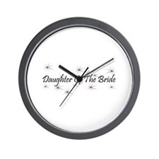Daughter Of Bride - Purple Ha Wall Clock