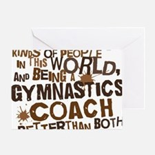 gymnasticscoachbrown Greeting Card
