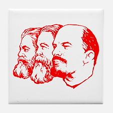 Marx, Engels & Lenin Tile Coaster