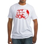 Marx, Engels & Lenin Fitted T-Shirt
