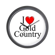 """""""I Love Gold Country"""" Wall Clock"""