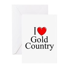 """""""I Love Gold Country"""" Greeting Cards (Pk of 10"""