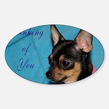 ChihuahuaGCard Sticker (Oval)