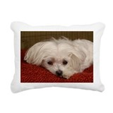 Maltese dog Rectangle Canvas Pillows