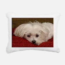 MalteseGCard Rectangular Canvas Pillow