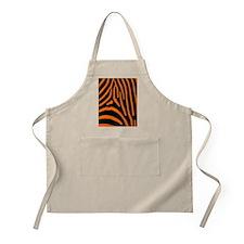 Orange Zebra Stripes Apron
