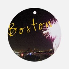 Boston_4.25x5.5_194_NoteCards Round Ornament