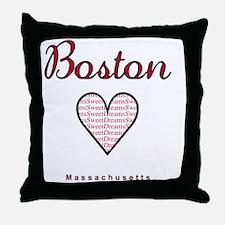 Boston_10x10_Massachusetts_SweetDream Throw Pillow