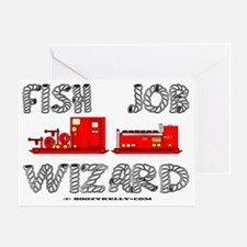 Fish Job Wizard aa A4 Greeting Card