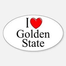 """""""I Love Golden State"""" Oval Decal"""