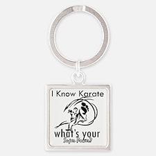 karate Square Keychain