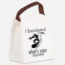 snowboard Canvas Lunch Bag