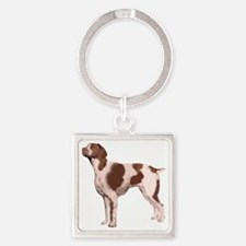 brittany single Square Keychain