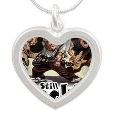 still rockin tshirt Silver Heart Necklace