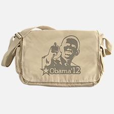 OBAMA_CHARCOAL_for dark2-01 Messenger Bag