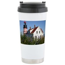 West Quoddy flowers Note Card Travel Mug