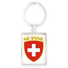 Switzerland (french) Arms Portrait Keychain