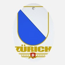 Zurich (Flag 10) Oval Ornament