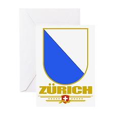 Zurich (Flag 10) Greeting Card
