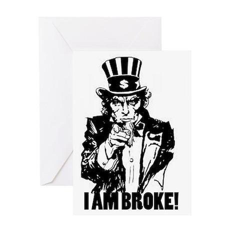 Uncle Sam Broke Greeting Card
