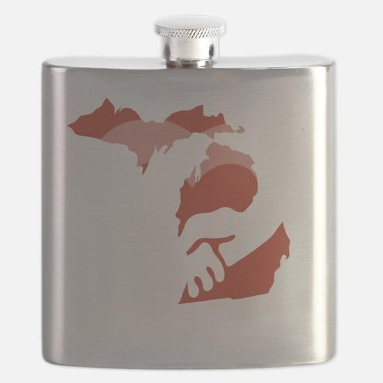 Michigan-love-W Flask