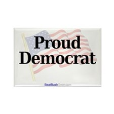 """Proud Democrat"" Rectangle Magnet (100)"