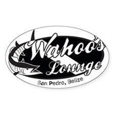 Wahoo Black and White Decal