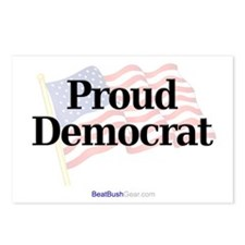 """Proud Democrat"" Postcards (8)"