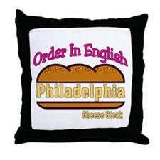 Order In English, Philly Chee Throw Pillow