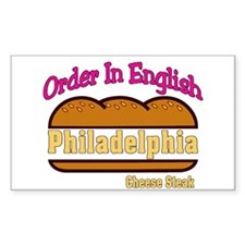 Order In English, Philly Chee Sticker (Rectangular