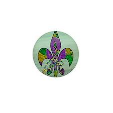 mardi Gras carvival fdl Mini Button