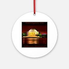 Jefferson Memorial Round Ornament