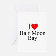 """""""I Love Half Moon Bay"""" Greeting Cards (Package of"""