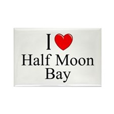"""I Love Half Moon Bay"" Rectangle Magnet"
