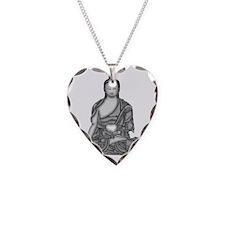 Buddha Wisdom Necklace Heart Charm