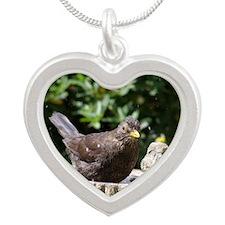 Bbirdbath Silver Heart Necklace