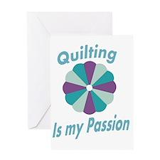 quiltingispassion Greeting Card