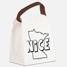 big  new NICE Canvas Lunch Bag
