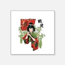 "Geisha Square Sticker 3"" x 3"""