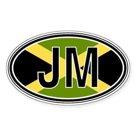 Jamaica Euro Oval Sticker