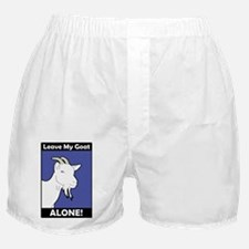 Leave My Goat Alone (Blue) Boxer Shorts